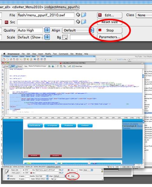 Como ver el flash en el modo de diseño de dreamweaver