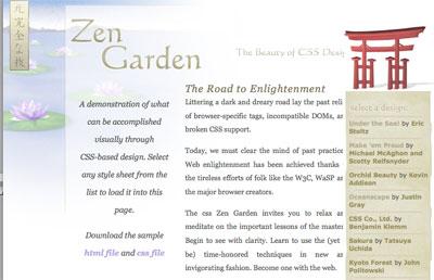 css zen gardenm w3c, sdgestudio, paginas web en zapopan