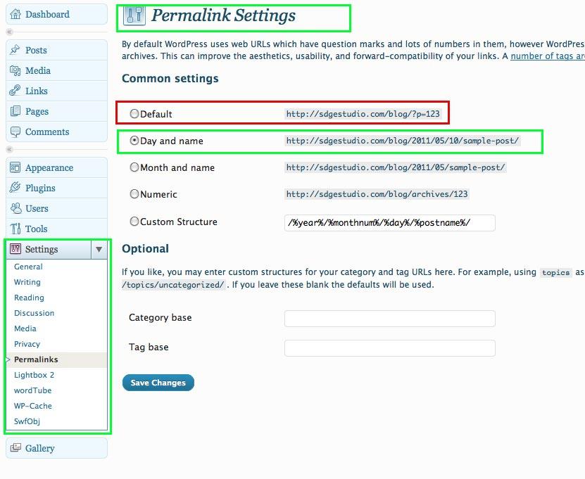 mejorar el posicionamiento de tu blog con permalinks