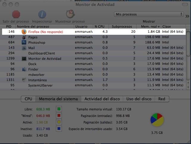 firefox 4 devora la memoria RAM
