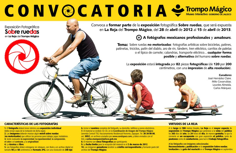 ben olivares, sdgestudio, trompo magico, convocatoria, concurso, photographers, bicicletas