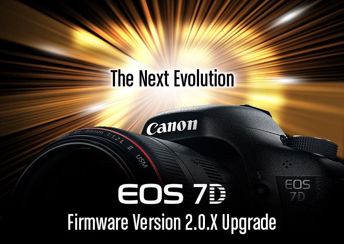 canon 7d mejora de firmware al 2.0