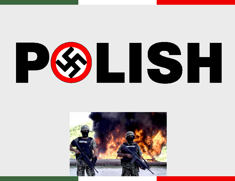 polacos atacan a elementos de la armada de mexico.