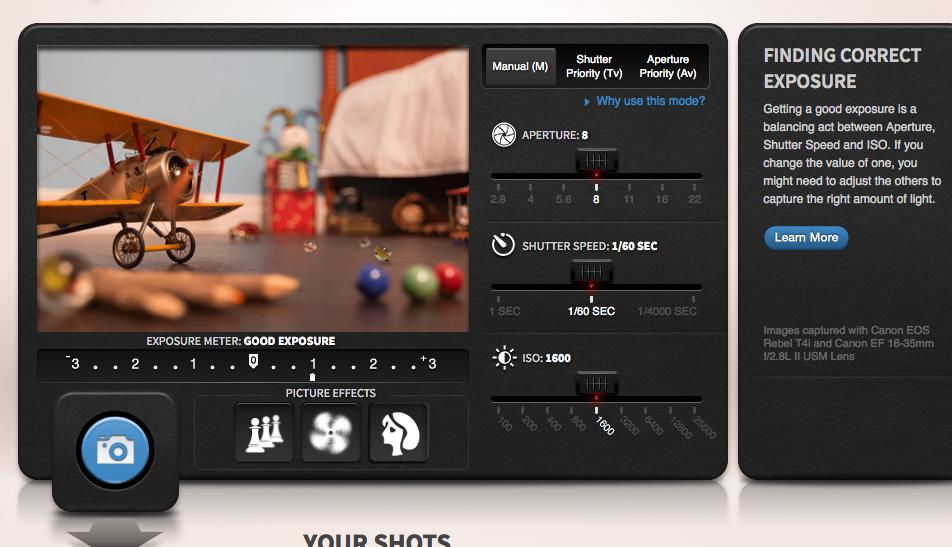 Usar camara Canon Tutirial online