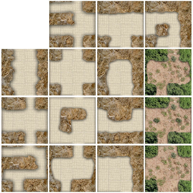 dungeon tiles for print. free for Dungoens and Dragons, pathfinder, role playing