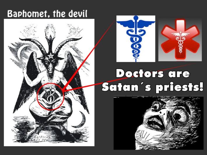 baphomet, el diablo, doctores, simbolos, semiotica, baculo asclepius, caduceo, varita magica, industria medica