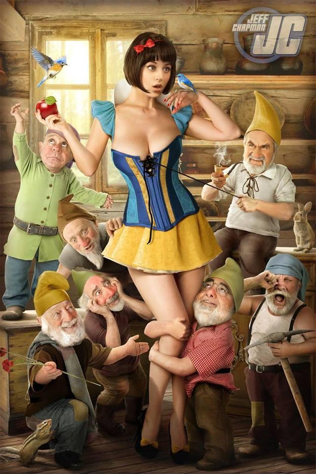 big tits hentai Snow White