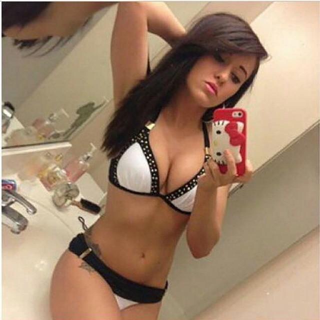 busty teen selfie